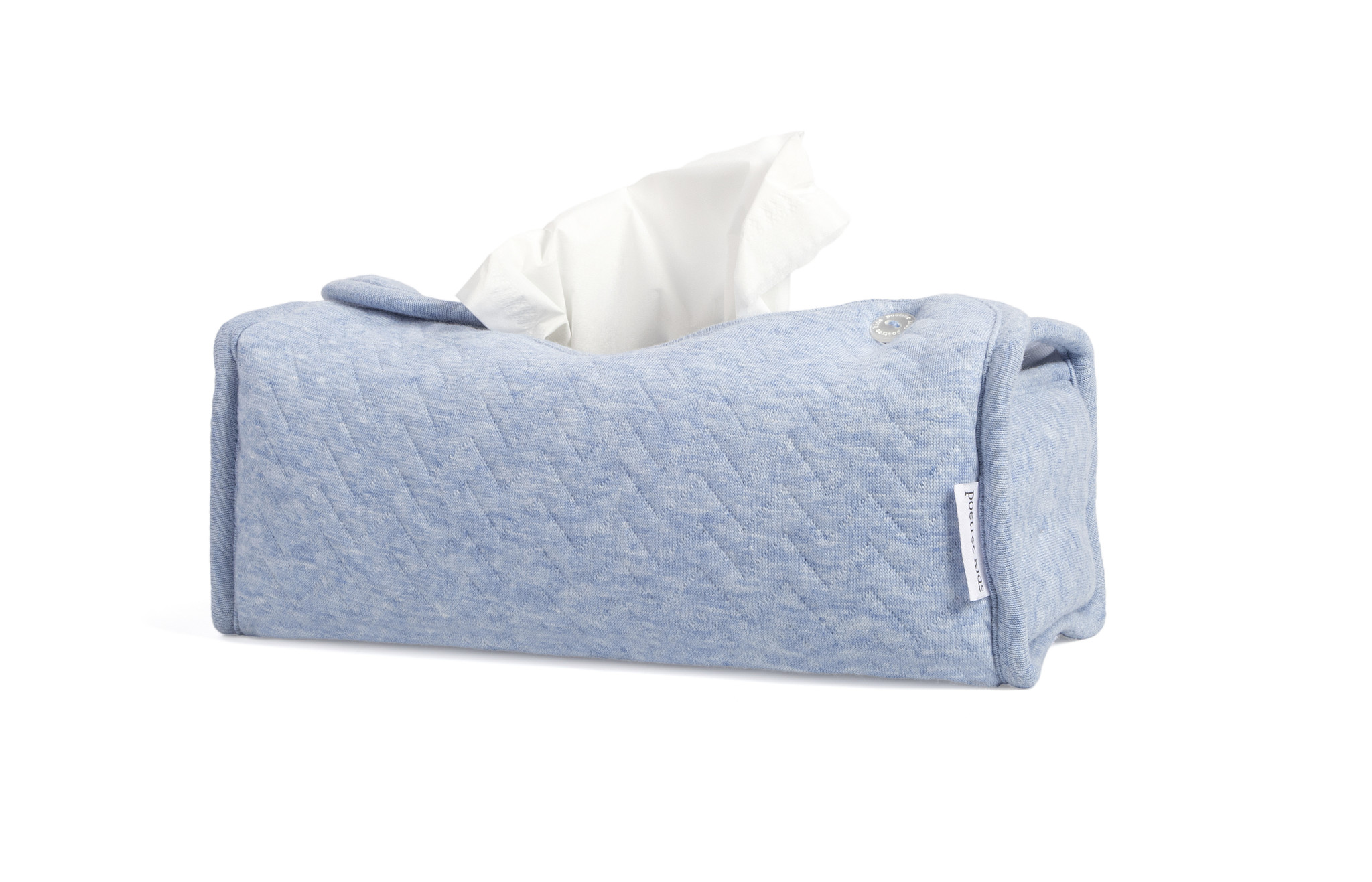 Tissue box hoes Chevron Denim Blue-2
