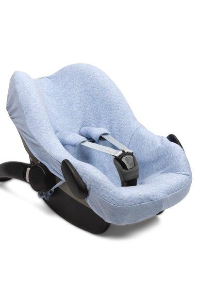 Car seat cover Chevron Denim Blue