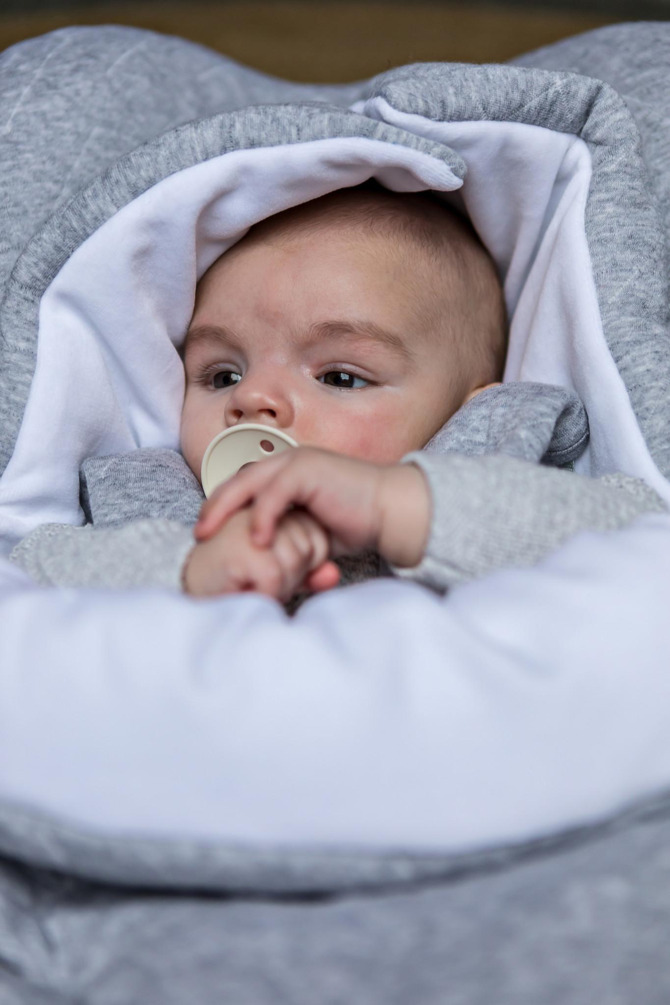 Nid d'ange bébé Star Grey Melange-2