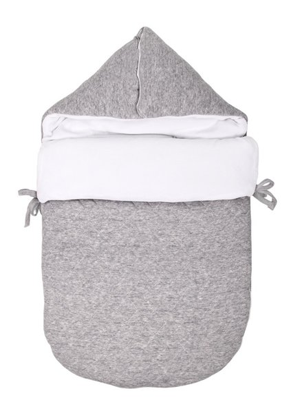Baby footmuff 5 point belt Star Grey Melange