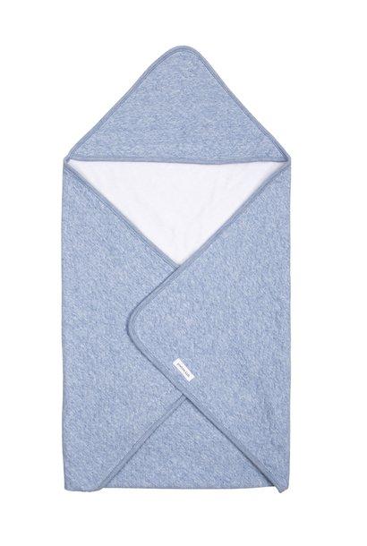 Couverture enveloppante Chevron Denim Blue