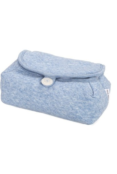 Baby wipes cover Chevron Denim Blue