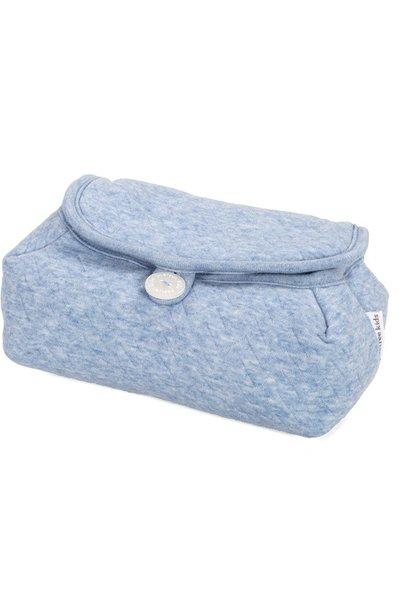 Housse de lingettes pour bébé Chevron Denim Blue