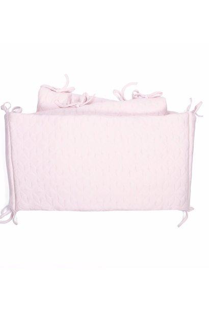 Cot Bumper Star Soft Pink