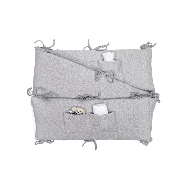 Playpen bumper Star Grey Melange-1
