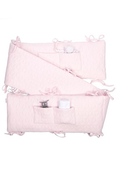 Playpen bumper  Star Soft Pink