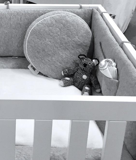 Playpen bumper Star Grey Melange-2