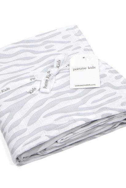 Couverture mousseline bébé Zebra print