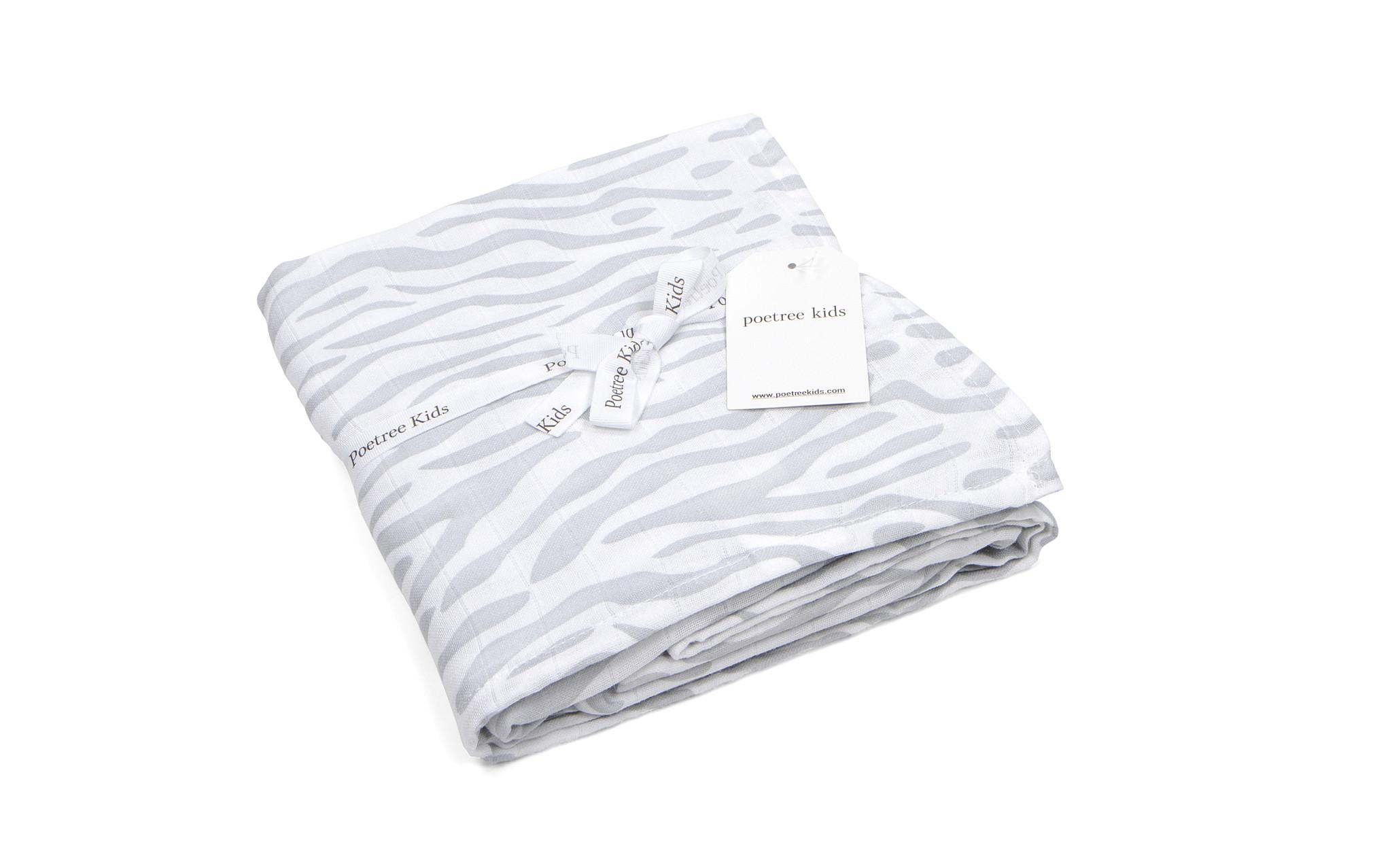 Swaddle doek 120x120cm Zebra print-6