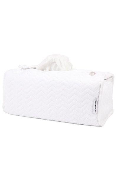 Housse boîte à mouchoirs Chevron White