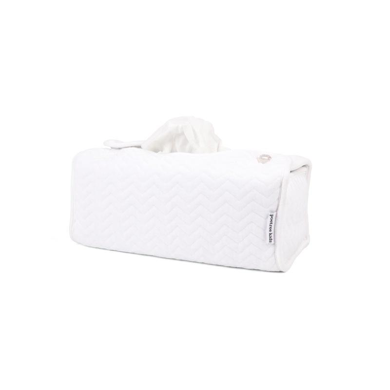 Tissue box hoes Chevron White-1