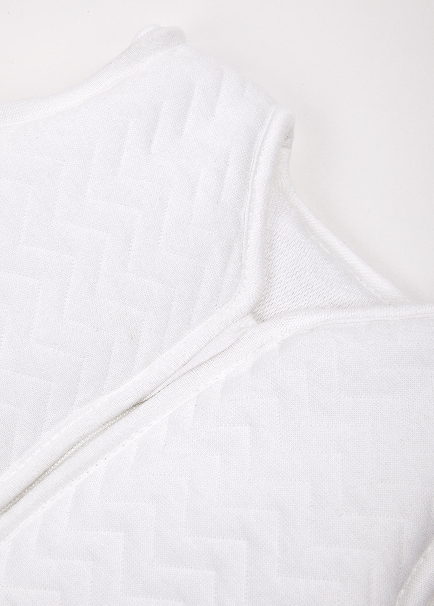 Sac de couchage en jersey 90cm Été Chevron White-2