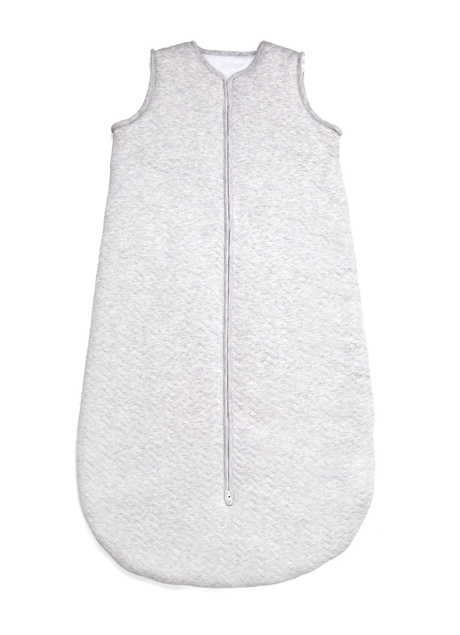 Sac de couchage en jersey 90cm Été Chevron Light Grey Melange-1