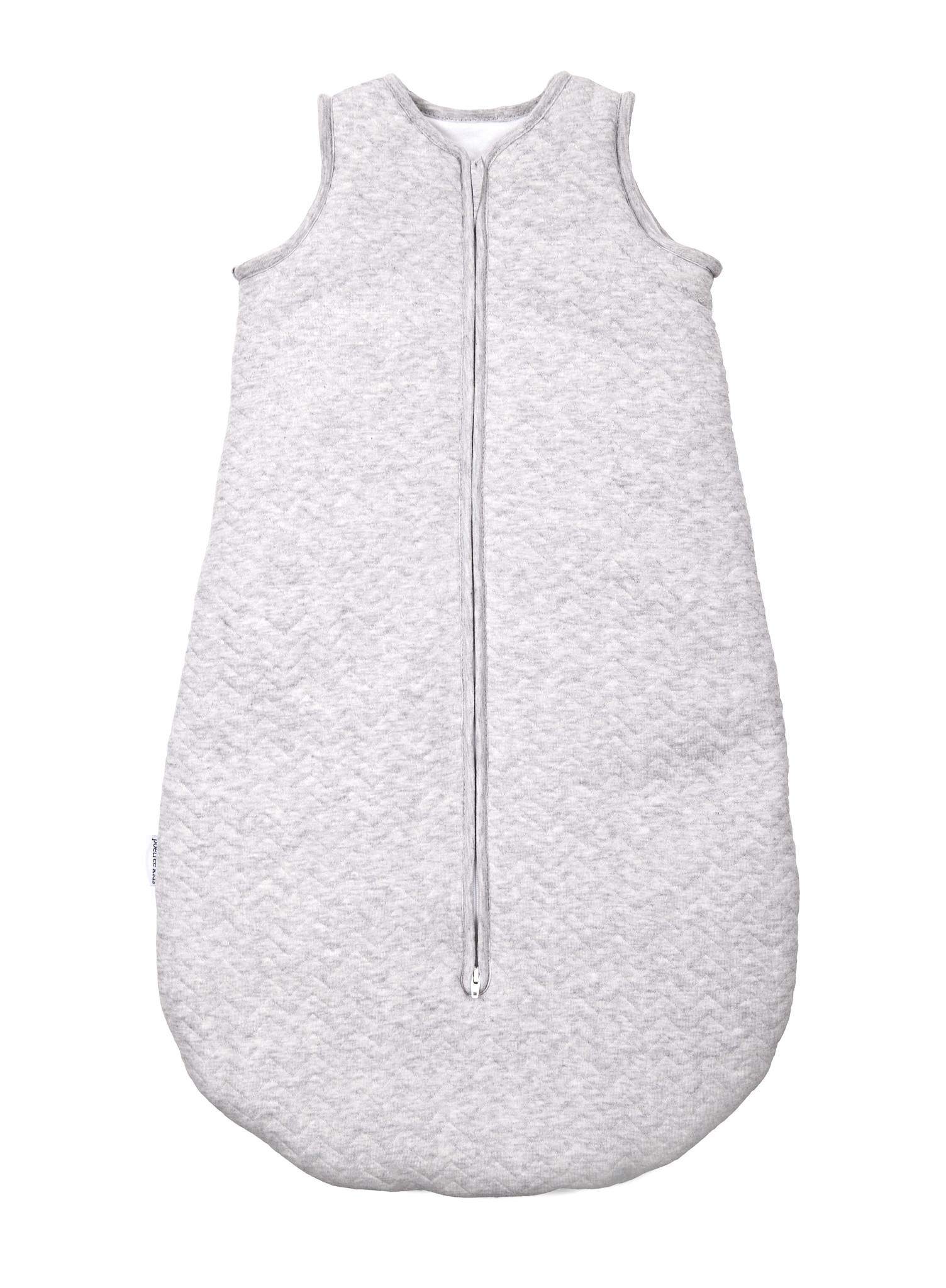 Jersey sleeping bag 70cm Summer Chevron Light Grey Melange-1