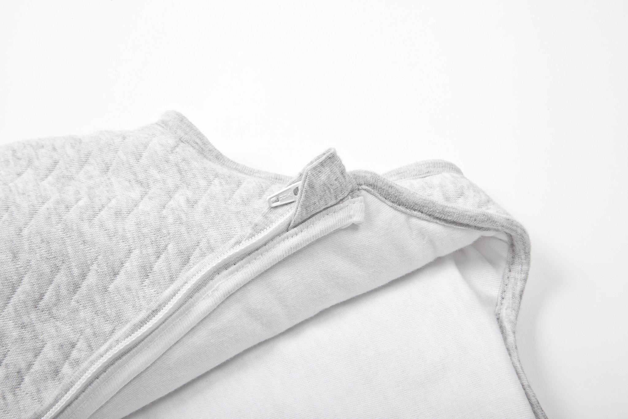 Jersey sleeping bag 70cm Summer Chevron Light Grey Melange-2