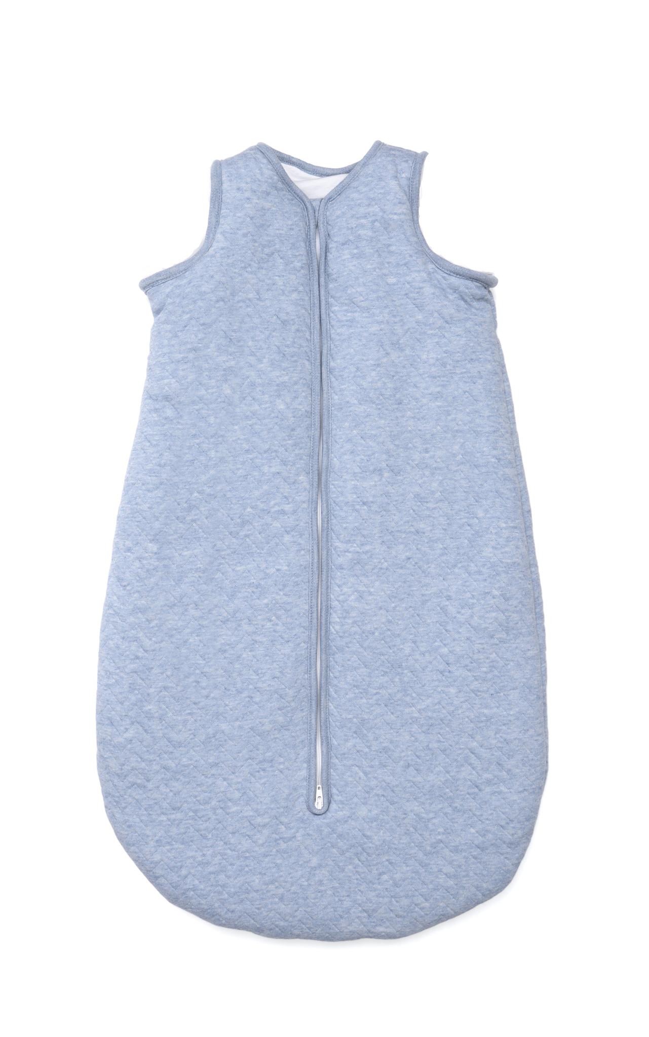 Jersey sleeping bag 90cm Summer Chevron Denim Blue-1