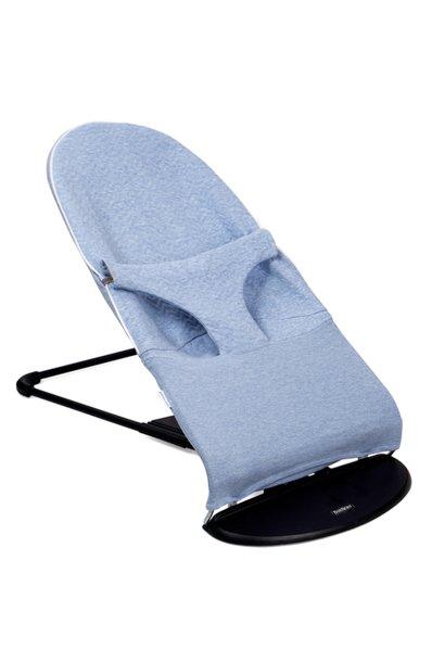 Housse de protection pour transat bébé Babybjörn Chevron Denim Blue