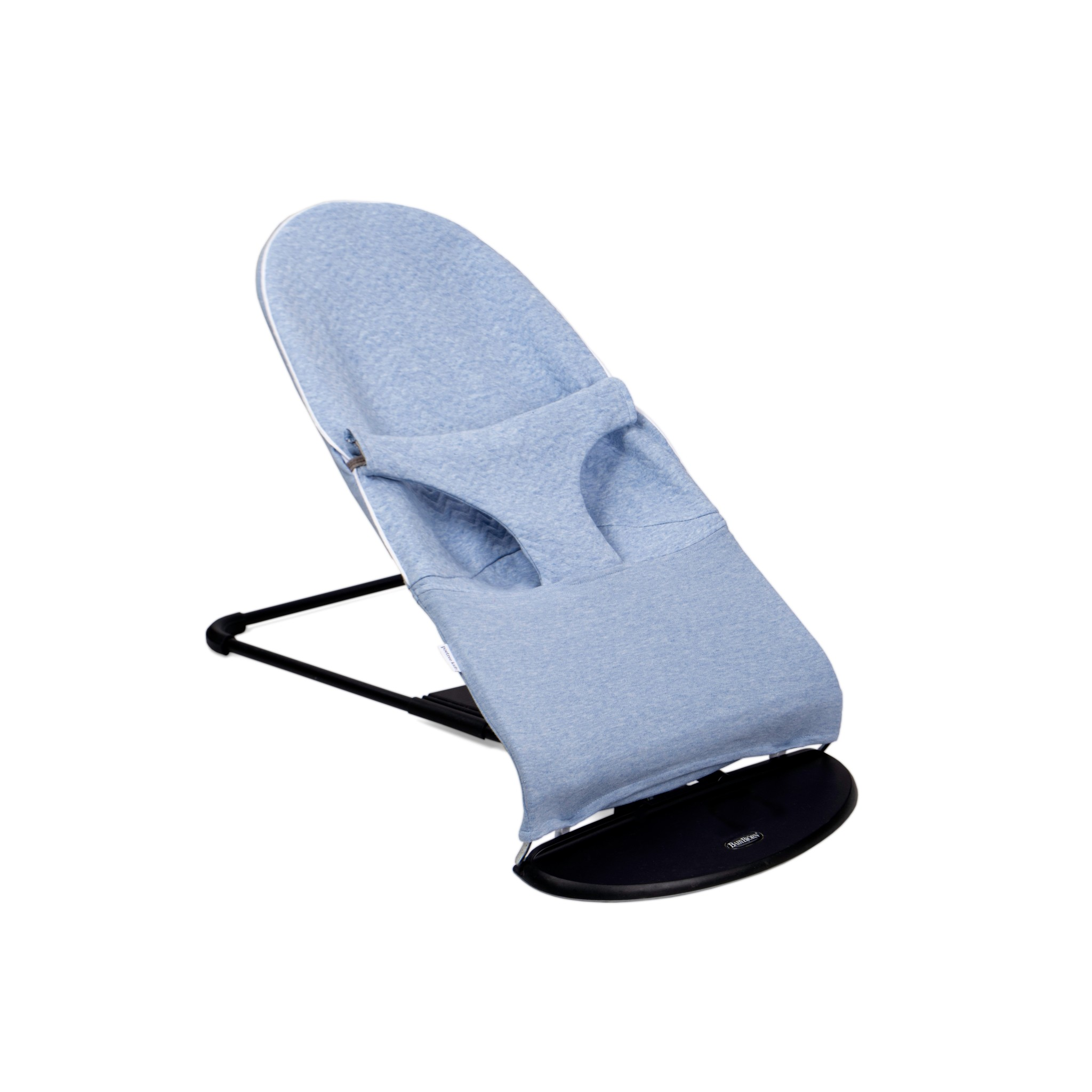 Protective cover for the Babybjörn bouncer Chevron Denim Blue-1