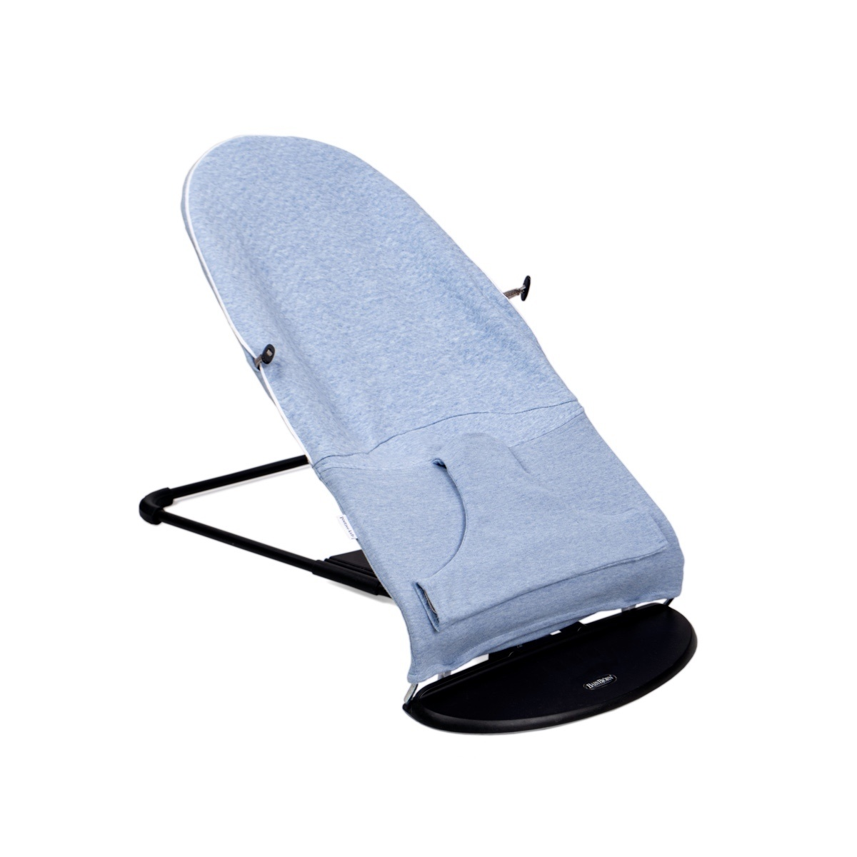 Protective cover for the Babybjörn bouncer Chevron Denim Blue-3