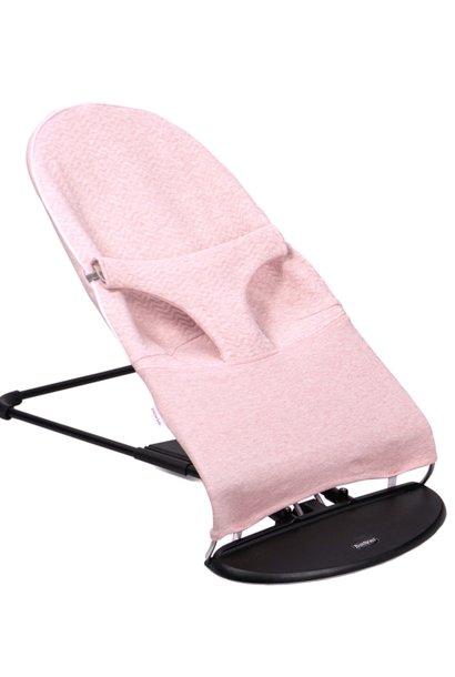 Housse de protection pour transat bébé Babybjörn Chevron Pink Melange