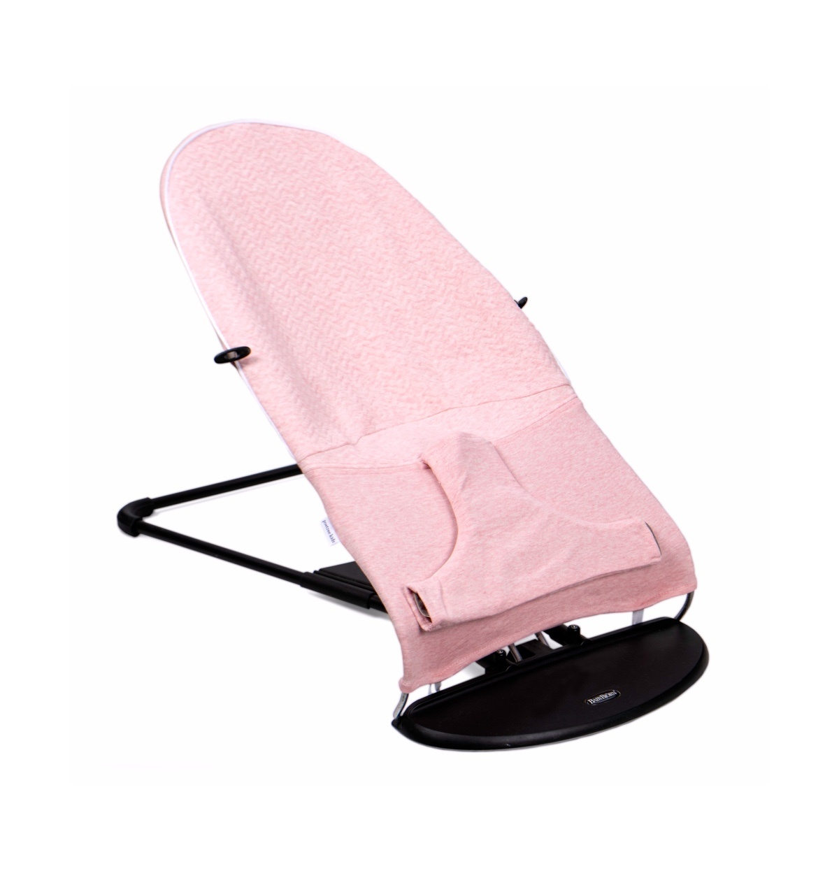 Protective cover for the Babybjörn bouncer Chevron Pink Melange-3
