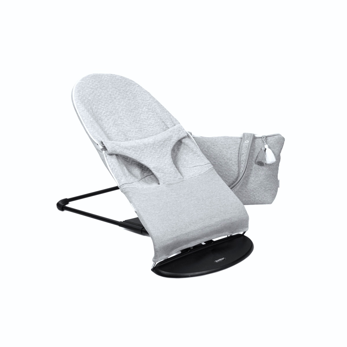 Protective cover for the BabyBjörn bouncer Chevron Light Grey Melange-2