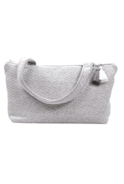 Nursery bag Chevron Light Grey Melange