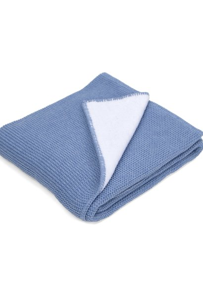 Baby Crib Blanked Denim Blue