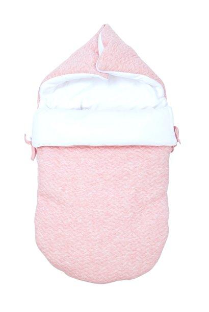 Nid d'ange bébé 5 points Chevron Pink Melange
