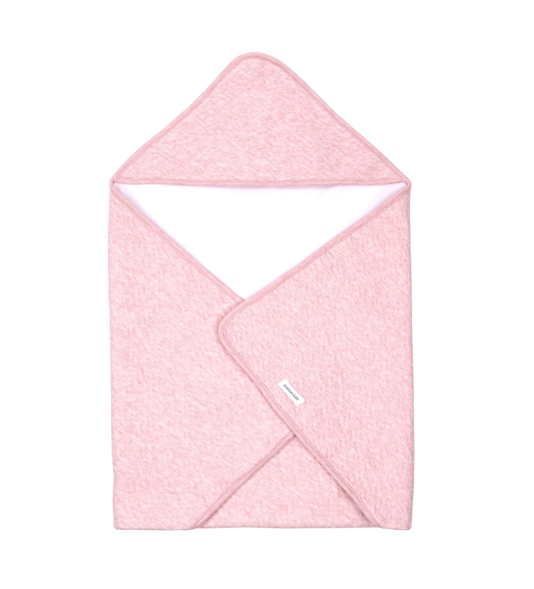 Wikkeldeken Chevron Pink Melange-1