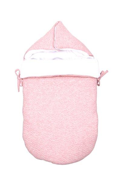 Baby footmuff Chevron Pink Melange