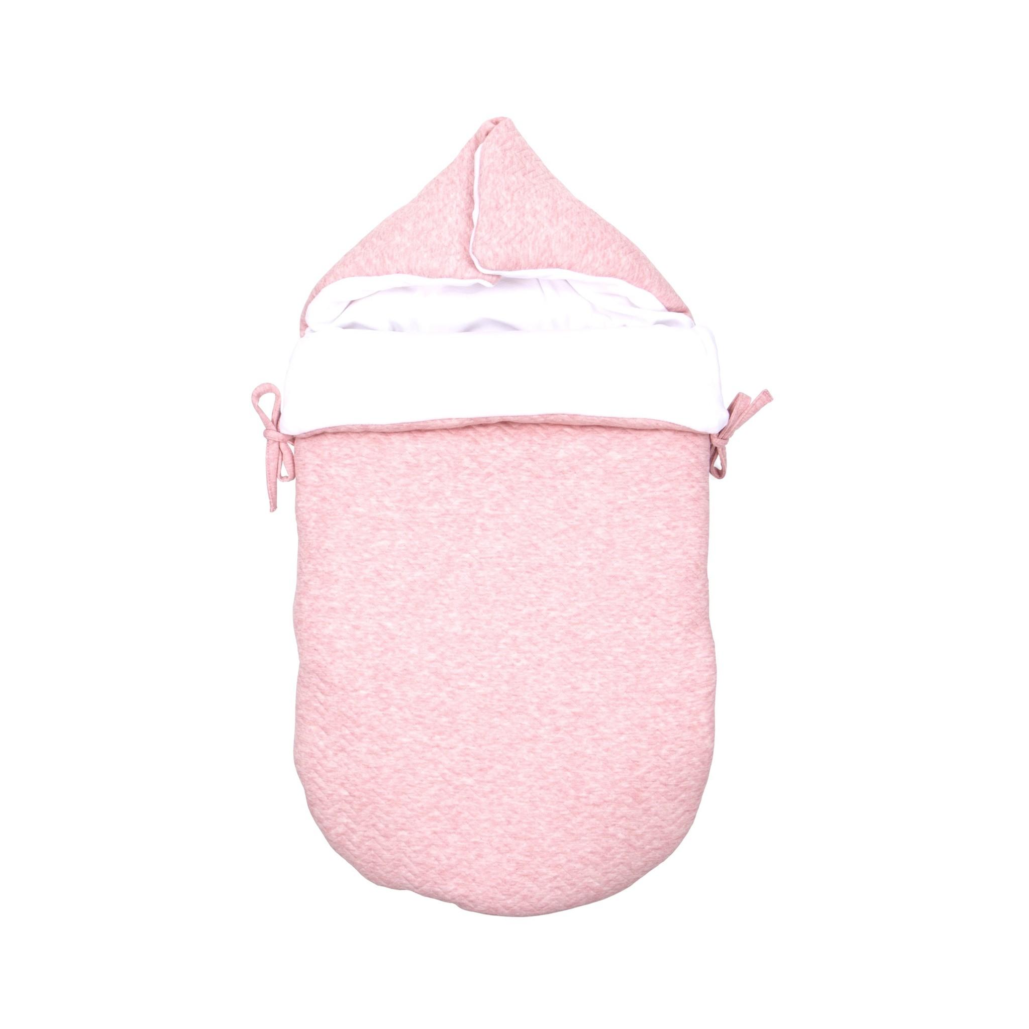 Nid d'ange bébé Chevron Pink Melange-1