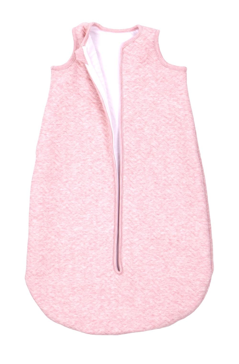 Jersey slaapzak 90cm Zomer Chevron Pink Melange-2