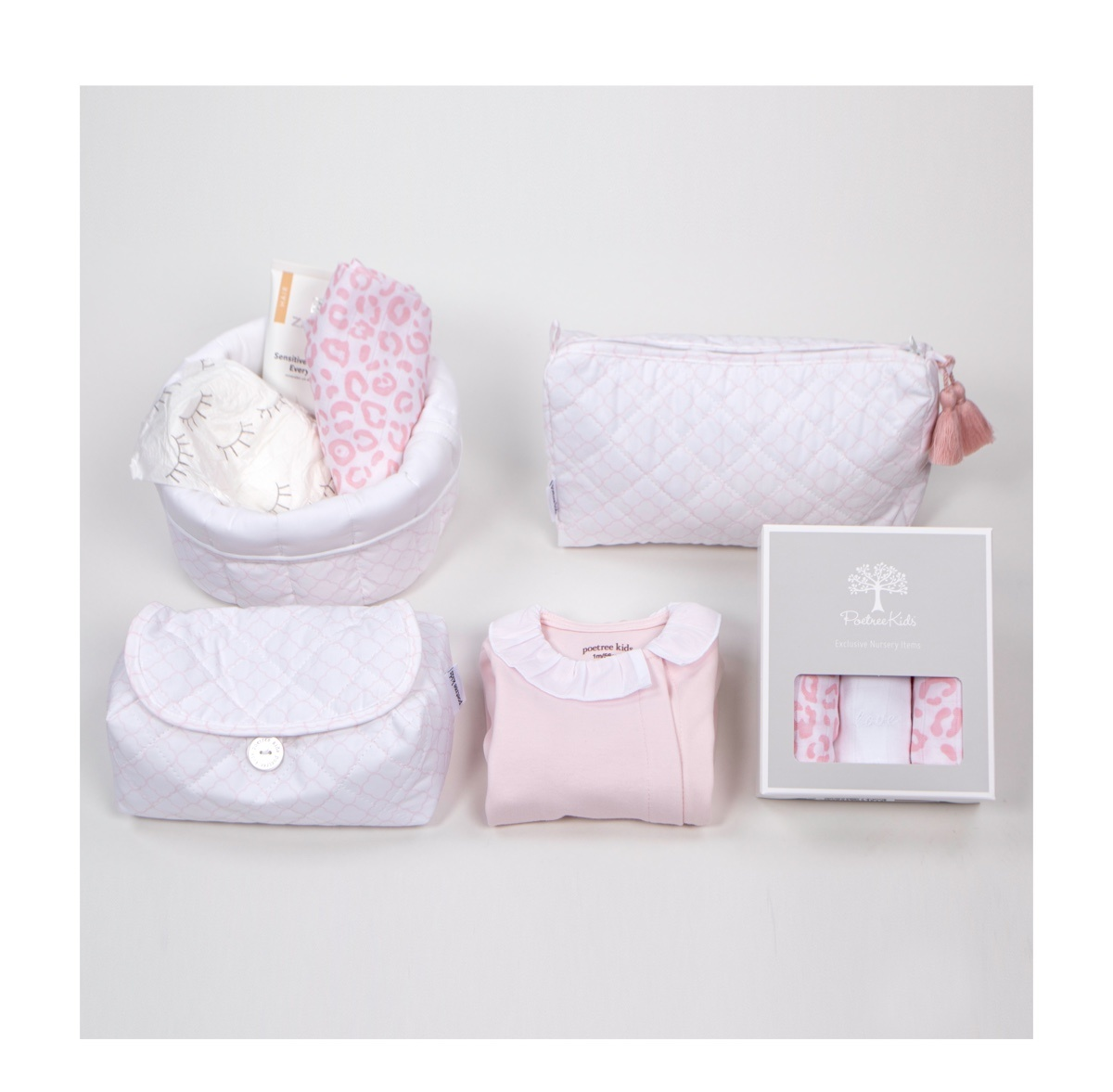 Gift set Valencia white with soft pink-2