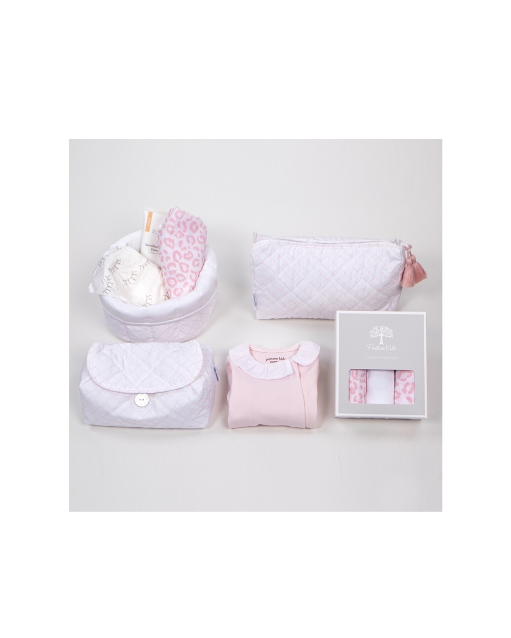 Gift set Valencia white with soft pink-1