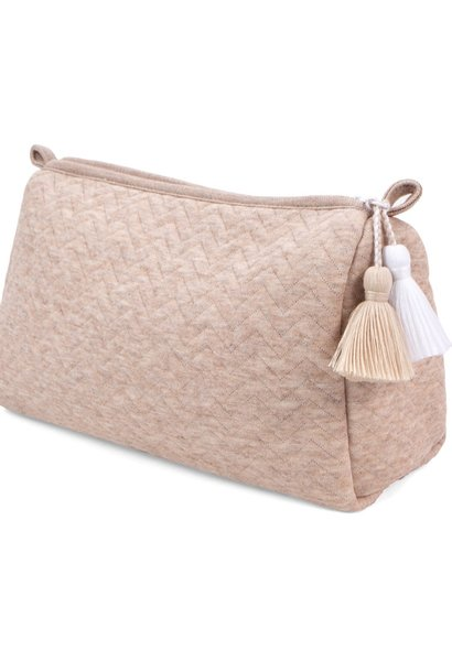 Toiletry bag Chevron Light Camel