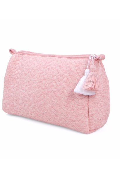 Toilettas Chevron Pink Melange