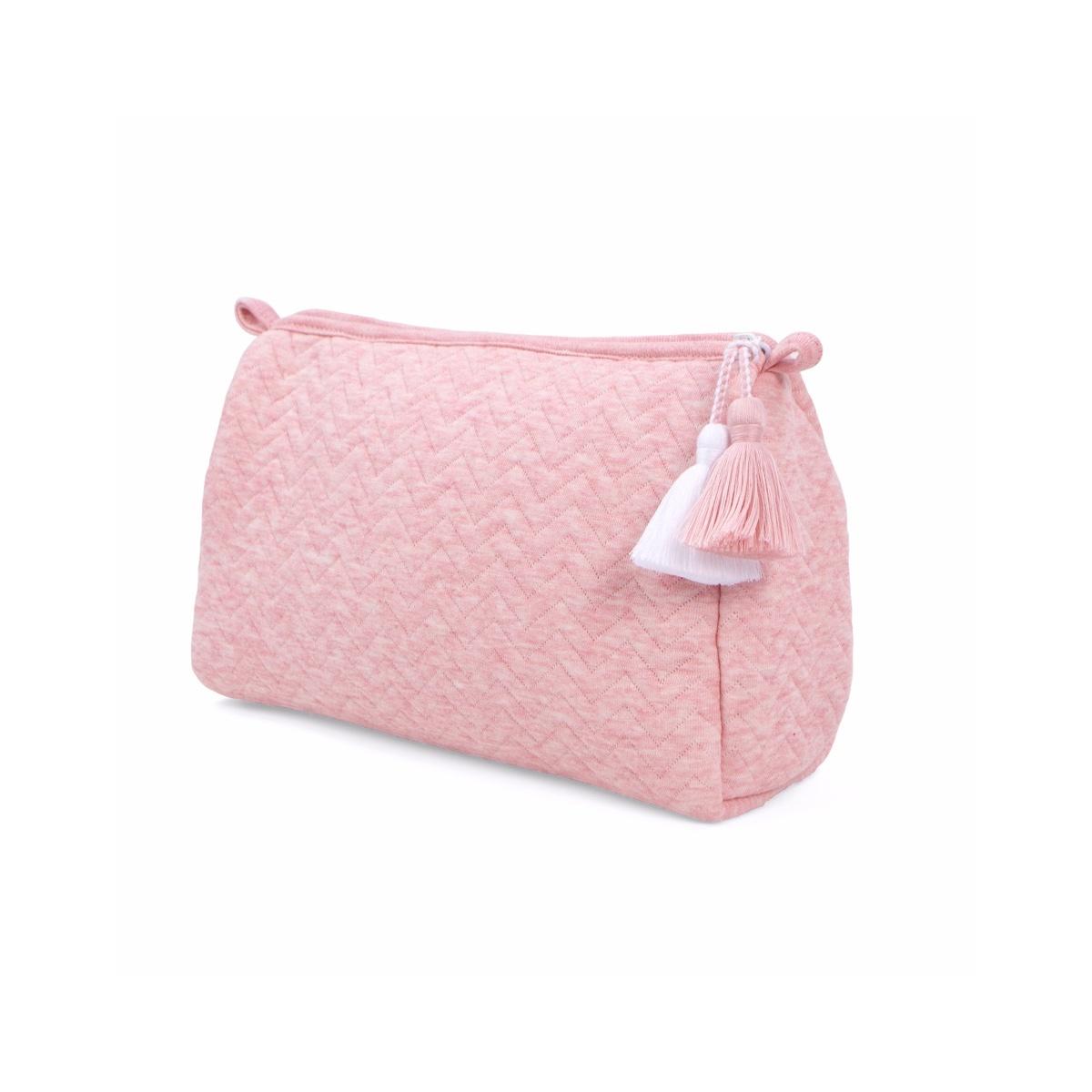 Toilettas Chevron Pink Melange-1