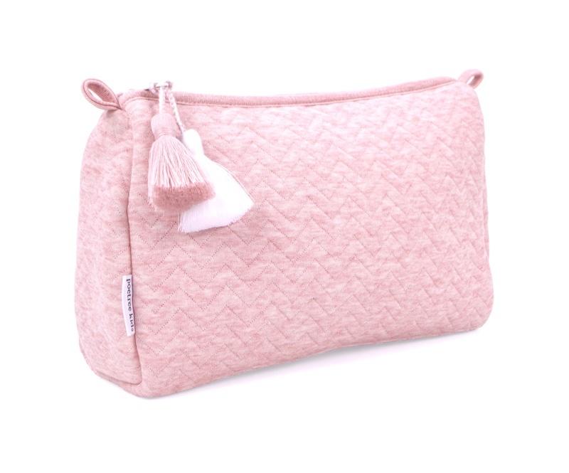 Toilettas Chevron Pink Melange-3