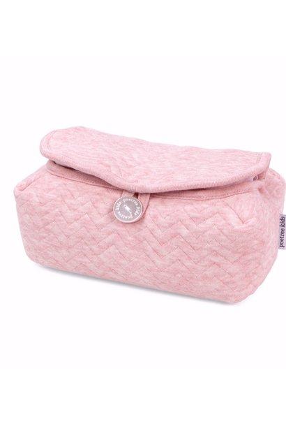 Housse de lingettes pour bébé Chevron Pink Melange