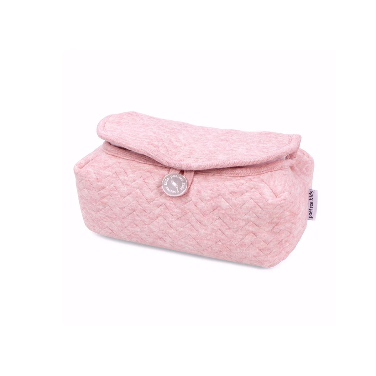 Baby wipes cover Chevron Pink Melange-1