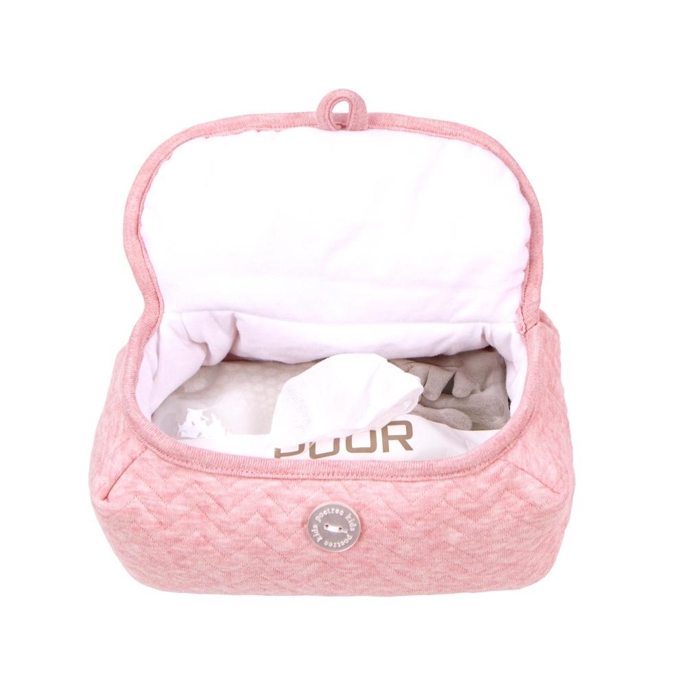 Baby wipes cover Chevron Pink Melange-2