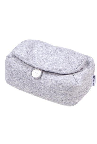 Housse de lingettes pour bébé Chevron Light Grey Melange