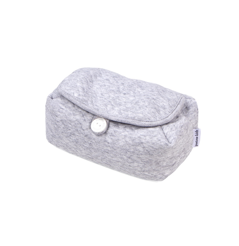 Housse de lingettes pour bébé Chevron Light Grey Melange-1