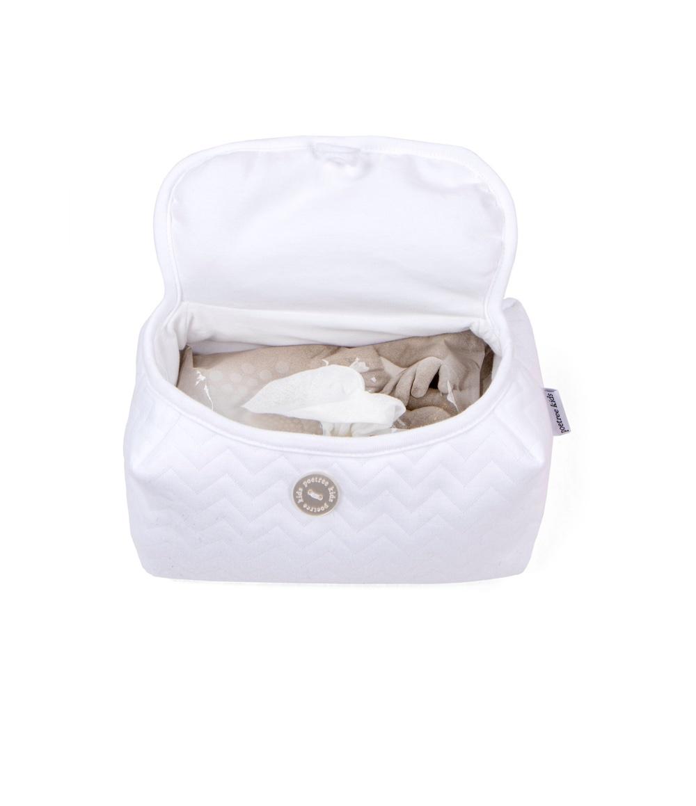 Baby wipes cover Chevron White-2