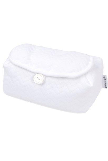 Housse de lingettes pour bébé Chevron White