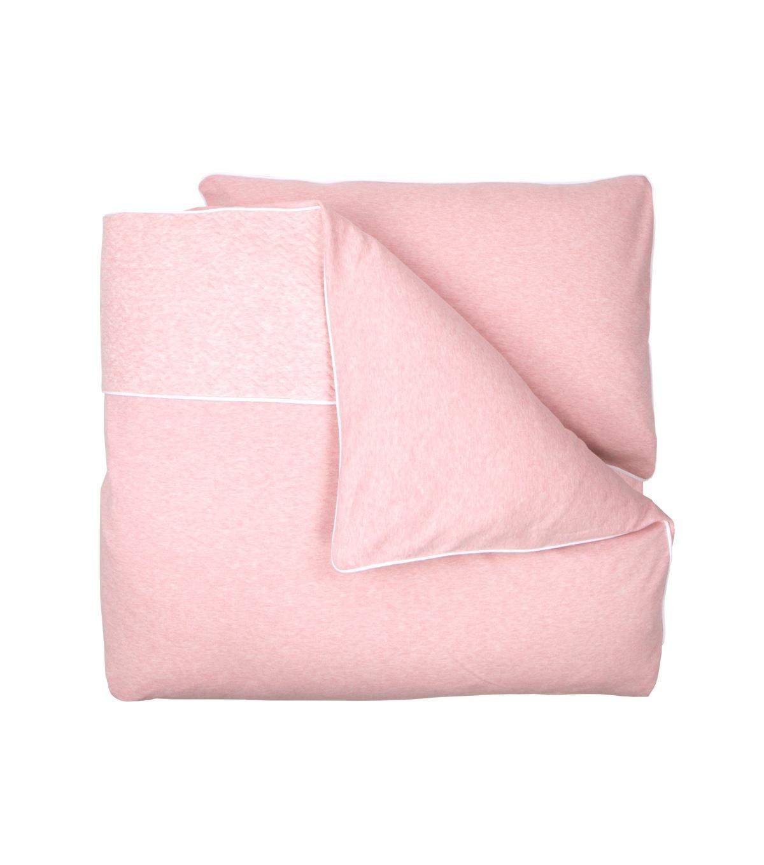 1-Persoons dekbedovertrek en kussensloop Chevron Pink Melange-1
