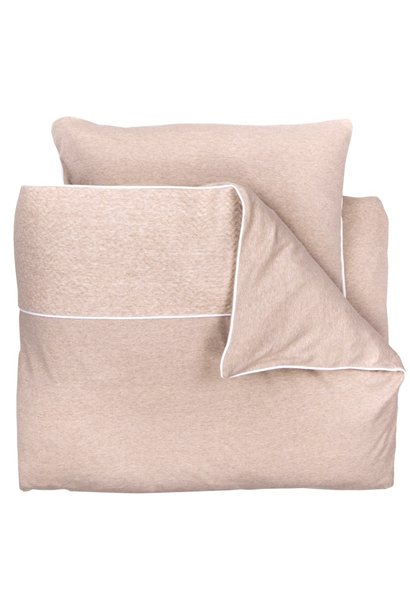 Duvet Cover & Pillow case Chevron Light Camel