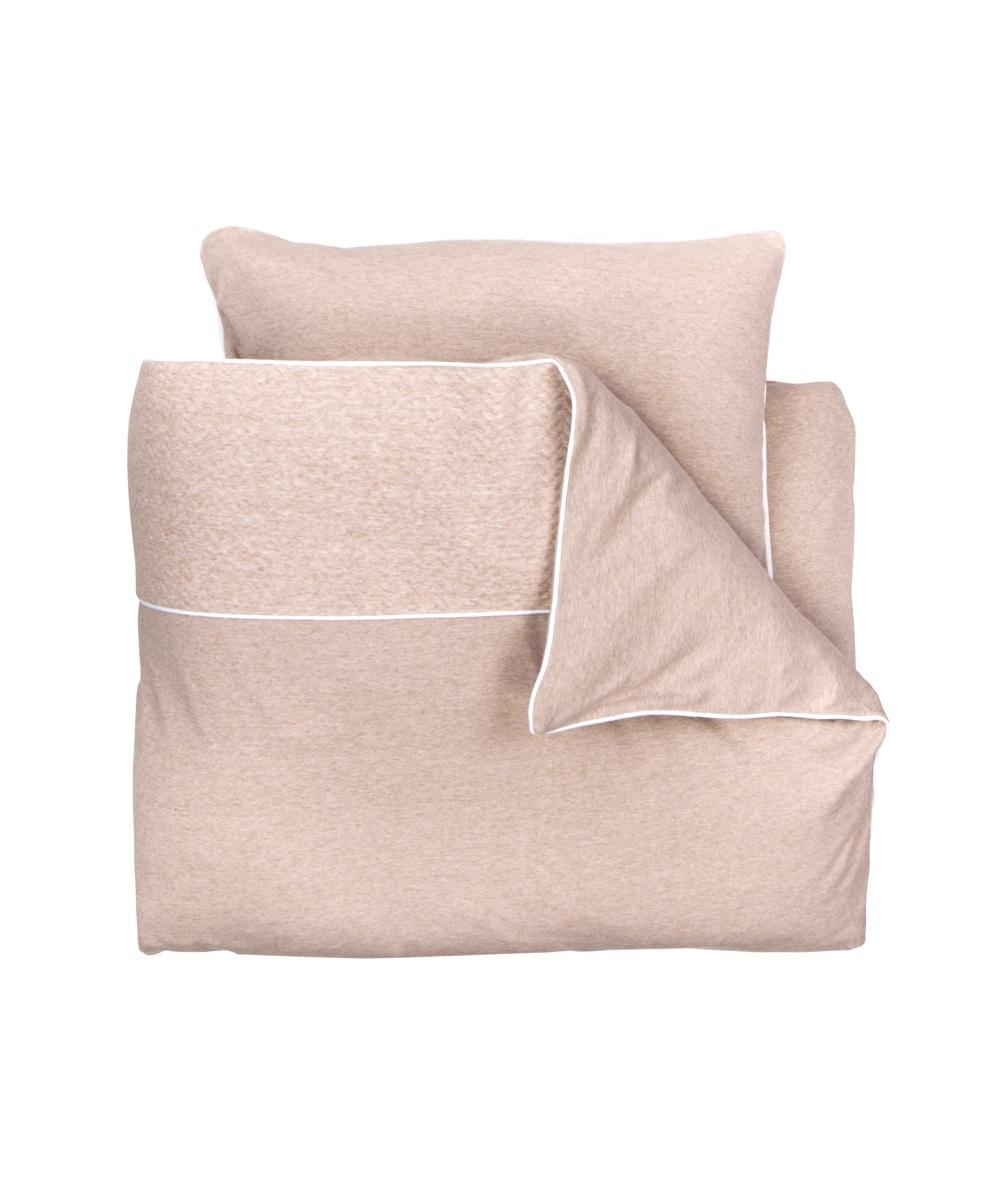 Duvet Cover & Pillow case 100x140cm Chevron Light Camel-1