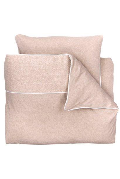 Crib / Playpen Duvet Cover & Pillow case Chevron Light Camel